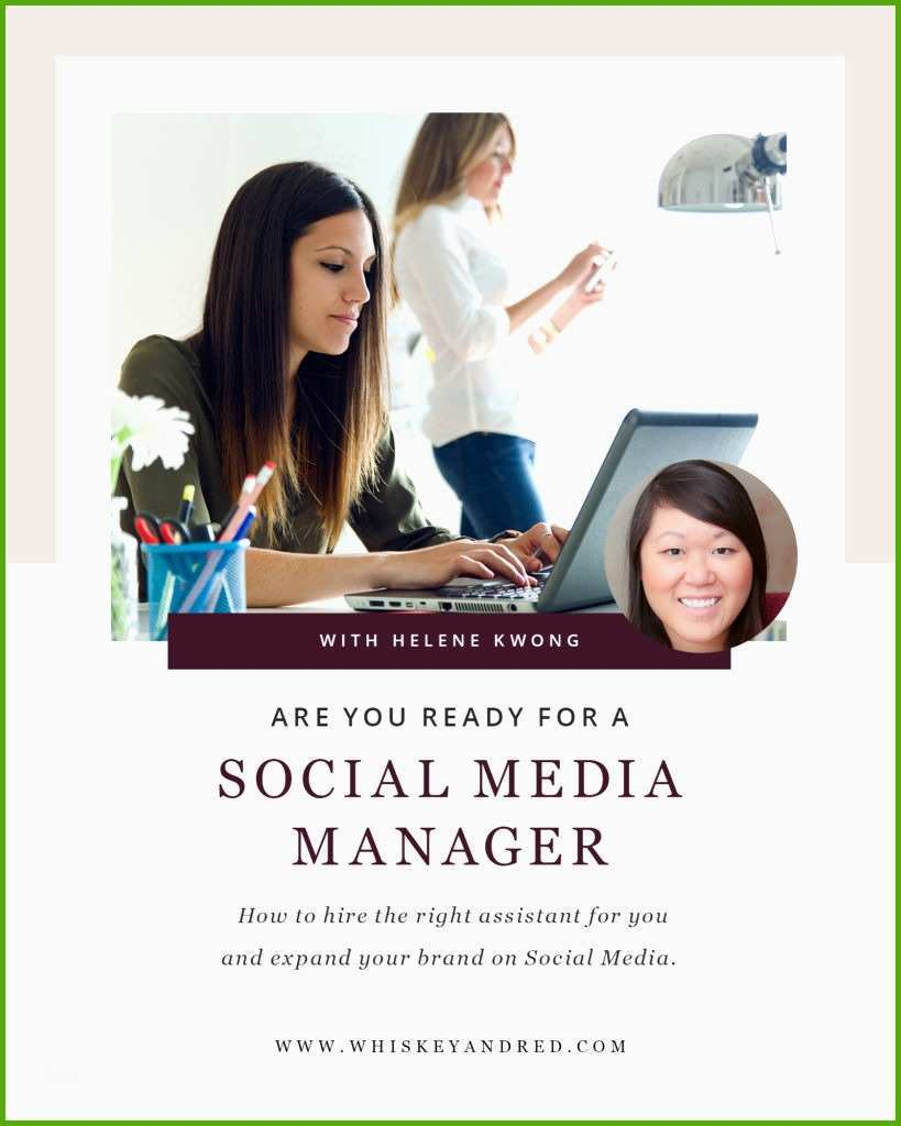 how to work with a social media manager