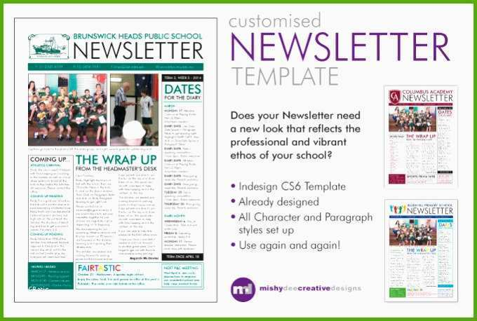 customise a newsletter template in indesign