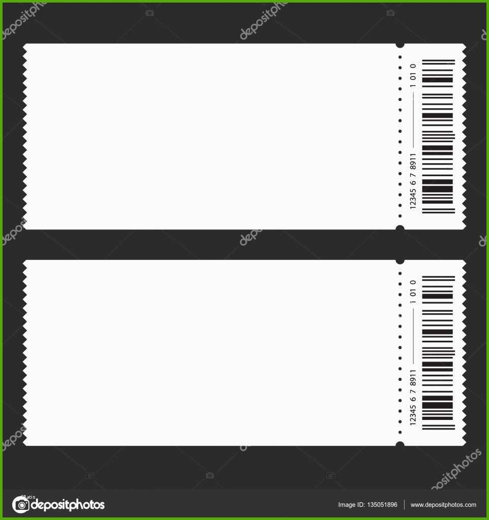 stock illustration ticket template barcode vector