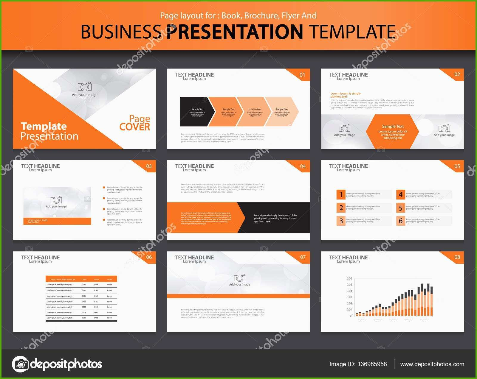 stock illustration business presentation design template with