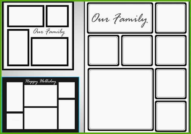 photo collage template vector set